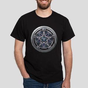 Silver Pagan Pentacle Dark T-Shirt