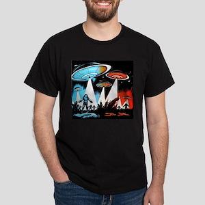 """Flying Saucer """"A"""" Dark T-Shirt"""