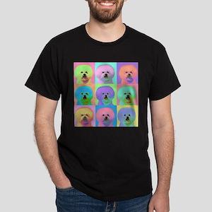 Op Art Bichon Dark T-Shirt