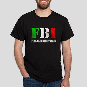 FBI Italian Shirt Dark T-Shirt