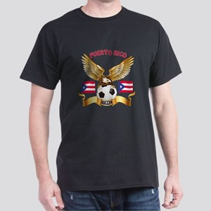 Puerto Rico Football Design Dark T-Shirt