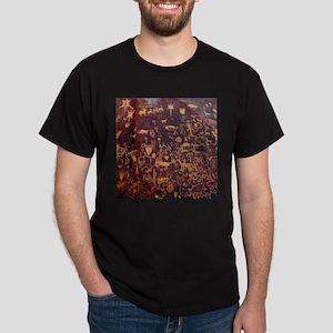 Newspaper Rock Petroglyph Dark T-Shirt