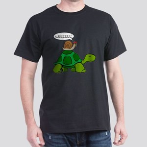 Snail on Turtle T-Shirt