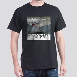 Kayaking whitewater junkie Black T-Shirt
