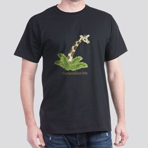 Personalized Giraffe Dark T-Shirt