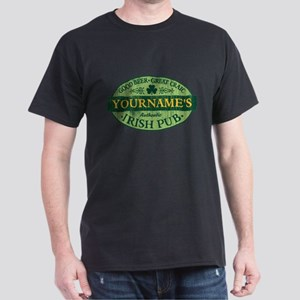 Custom Irish Pub Vintage Dark T-Shirt