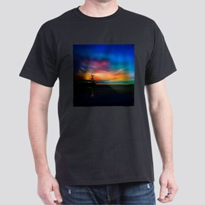 Sunrise Over The Sea And Lighthouse T-Shirt