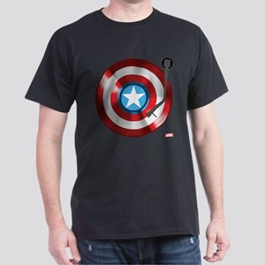 Captain America Vinyl Shield Dark T-Shirt