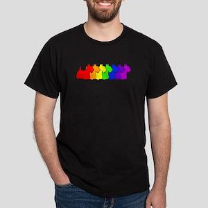 Rainbow Scottie Dark T-Shirt