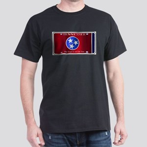 Tennessee State License Plate Flag T-Shirt