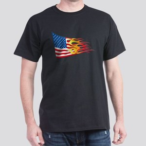 Hot Rod Flag Dark T-Shirt