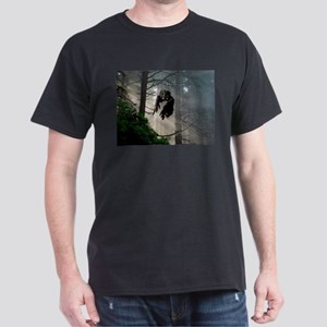 Owl flying out of forest Dark T-Shirt