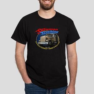 Snowman Trucking Dark T-Shirt