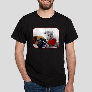 Valentine's Boxer puppy Dark T-Shirt