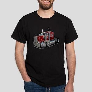 Kenworth W900 Maroon Truck Dark T-Shirt
