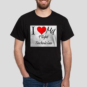 I Heart My Flight Technician Dark T-Shirt