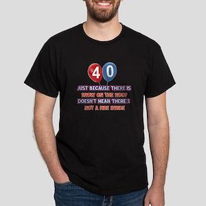 40 year old designs Dark T-Shirt