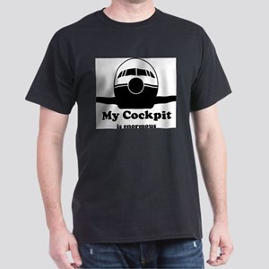 Enormous Cockpit Ash Grey T-Shirt