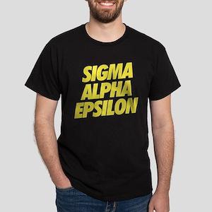 Sigma Alpha Epsilon Slant Dark T-Shirt