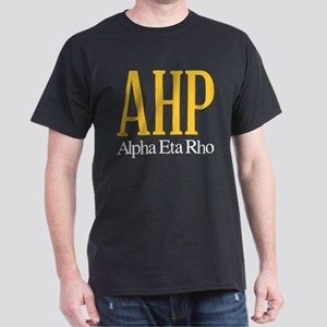 Alpha Eta Rho Letters Dark T-Shirt
