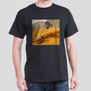 Motocross Riders Riding Sand Dunes T-Shirt