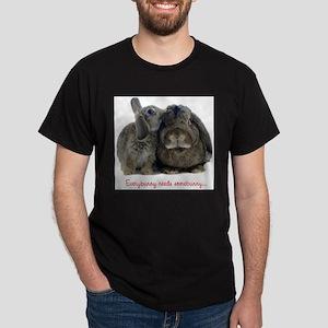 Everybunny needs somebunny Ash Grey T-Shirt