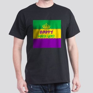 Happy Mardi Gras Crown and Beads T-Shirt