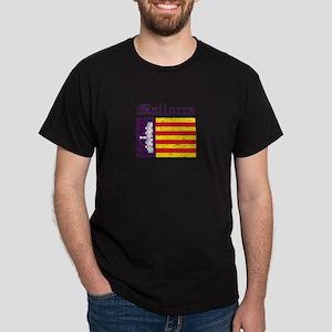Mallorca flag designs Dark T-Shirt