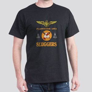 US NAVY VF-103 SLUGGERS Black T-Shirt