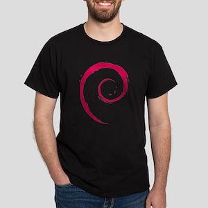 Debian swirl Dark T-Shirt