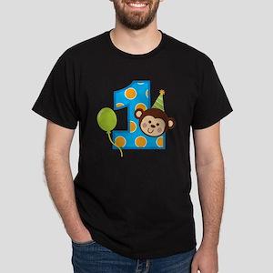 BoyPartyMonkey1stBirthdayV2 Dark T-Shirt