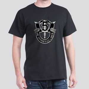 5th Special Forces - DUI - No Txt Dark T-Shirt