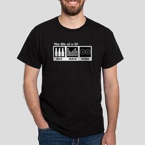 Beer, Beats, and Boobs.  Volu Dark T-Shirt