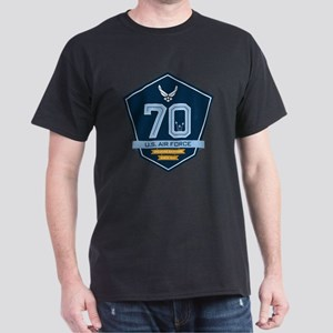 70th Anniversary U S A F Dark T-Shirt