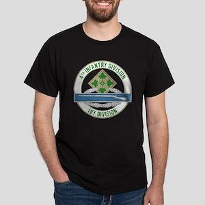 4th Infantry CIB Dark T-Shirt