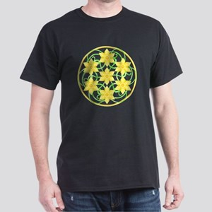 Daffodils Mandala Dark T-Shirt