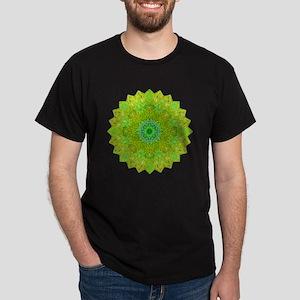 Green Yellow Earth Mandala Shirt Dark T-Shirt