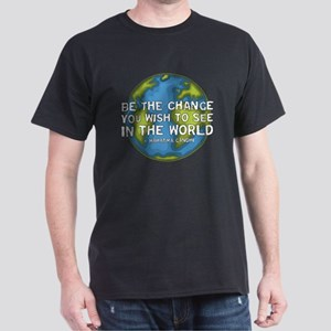Be the Change - Earth - Green Vine Dark T-Shirt