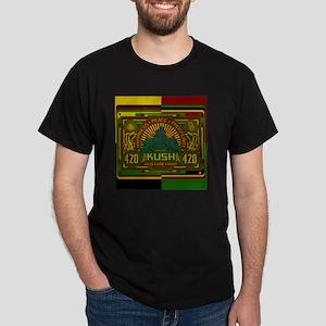 Kush 420 Shower Curtain Dark T-Shirt