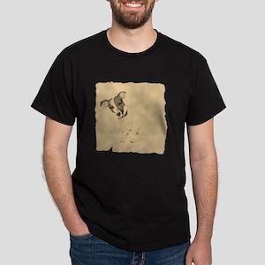 Jack Russell Vintage Style Dark T-Shirt