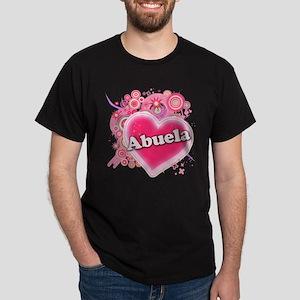 Abuela Heart Art Dark T-Shirt