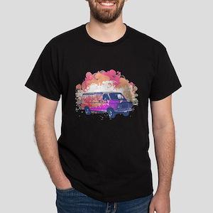 Retro Hippie Van Grunge Style Dark T-Shirt