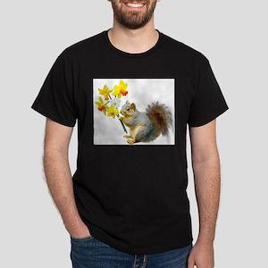 Squirrel Daffodils T-Shirt