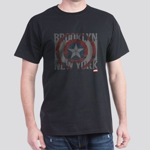 Captain America Brooklyn Distressed Dark T-Shirt