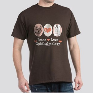 Peace Love Ophthalmology Dark T-Shirt