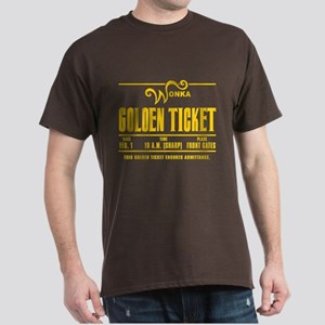 Wonka Golden Ticket Dark T-Shirt