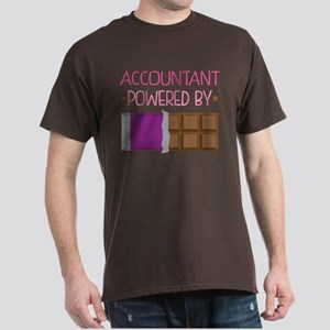 Accountant powered by chocolate Dark T-Shirt