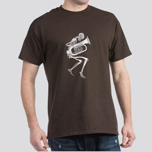 Skeleton Tuba Player Dark T-Shirt