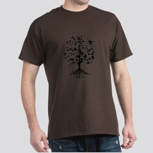 Guitar Tree Roots Dark T-Shirt