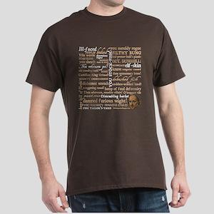 Shakespeare Insults Dark T-Shirt